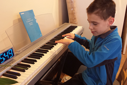 James Playing the piano