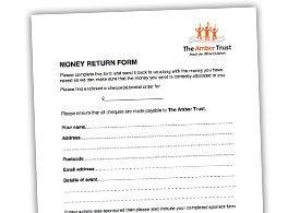 Money Return Form