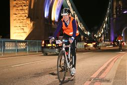 Night rider cyclist