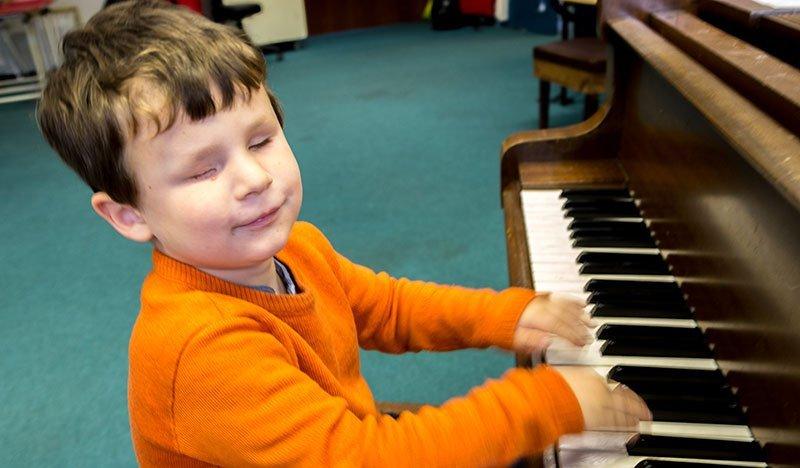 Ronan on the piano