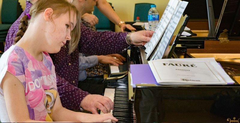 Ashleigh playing piano