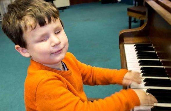 Ronan playing the piano