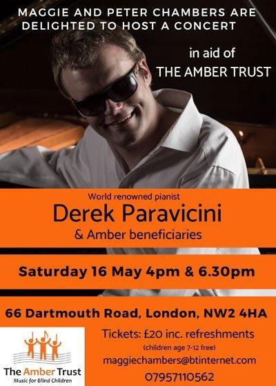 Derek Paravicini Event Flyer