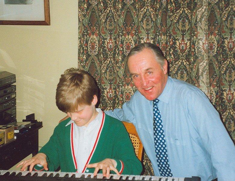 Lord Patrick and Derek at a keyboard