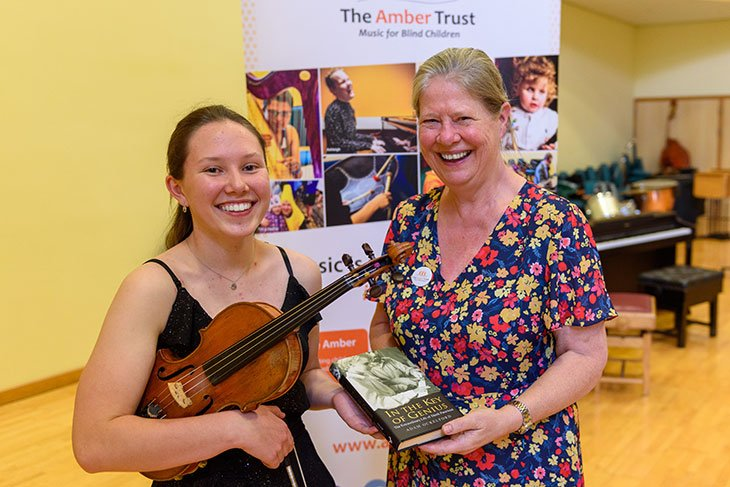 Poppy Mcghee and Lady Julia Walport at The Amber Trust's Annual Concert 2021